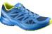 Salomon Sonic Aero Trailrunning Shoes Men midnight blue/bright blue/gecko green